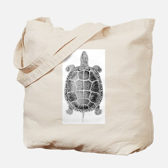 Vintage Turtle Tote Bag