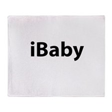 iBaby (black font) Throw Blanket