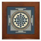 Sri yantra mandala Framed Tiles