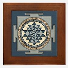 Sri Yantra Mandala Framed Tile