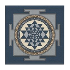 Sri Yantra Mandala Tile Coaster