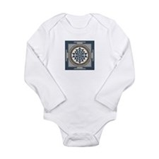 Sri Yantra Mandala Long Sleeve Infant Bodysuit
