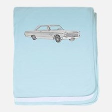 Plymouth Fury 1965 baby blanket