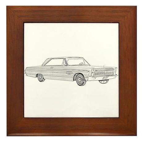 Plymouth Fury 1965 Framed Tile