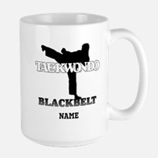 Personalized TaeKwonDo Black Belt Large Mug