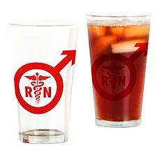Scrubs Murse Male Nurse Symbol Drinking Glass