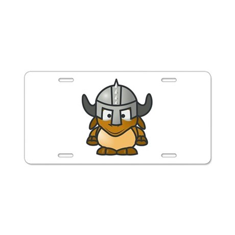 Cartoon Gnu Knight Aluminum License Plate