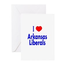 I Love Arkansas Liberals Greeting Cards (Package o