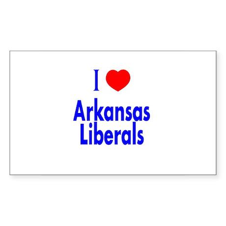 I Love Arkansas Liberals Rectangle Sticker