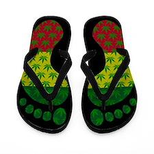 Unique Cannabis Flip Flops