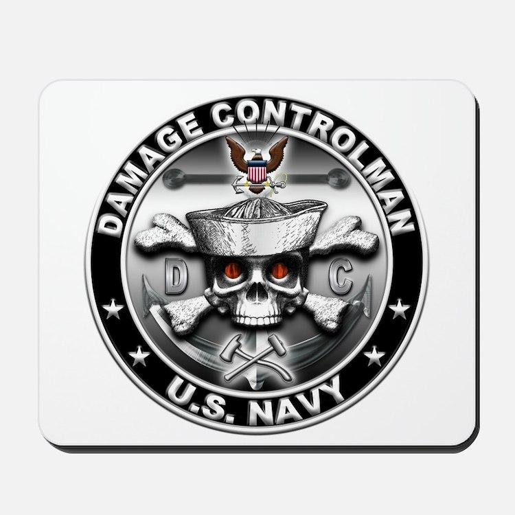 USN Damage Controlman Skull D Mousepad