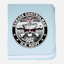 USN Damage Controlman Skull D baby blanket