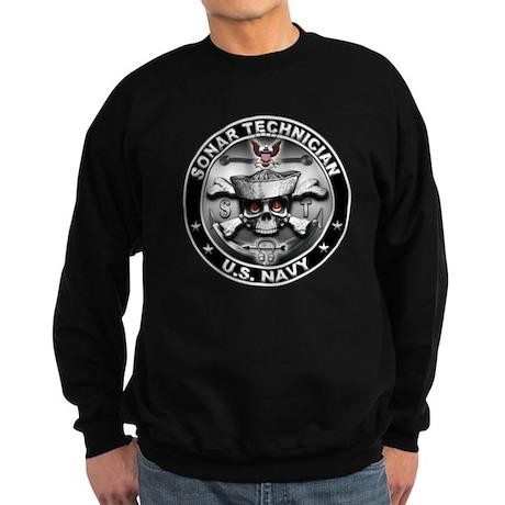 USN Sonar Technician Skull ST Sweatshirt (dark)