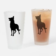 German Shepherd Silhouette Drinking Glass
