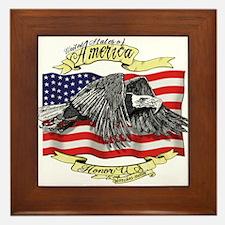 American Eagle Framed Tile