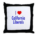 I Love California Liberals Throw Pillow