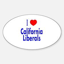 I Love California Liberals Oval Decal