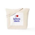 I Love California Liberals Tote Bag