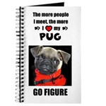 THE MORE I LOVE MY PUG Journal