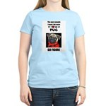 THE MORE I LOVE MY PUG Women's Pink T-Shirt