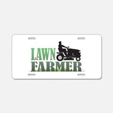 Lawn Farmer Aluminum License Plate