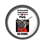 THE MORE I LOVE MY PUG Wall Clock