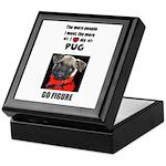 THE MORE I LOVE MY PUG Keepsake Box