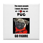 THE MORE I LOVE MY PUG Tile Coaster
