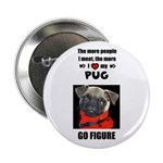 THE MORE I LOVE MY PUG Button