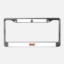 THE MORE I LOVE MY PUG License Plate Frame