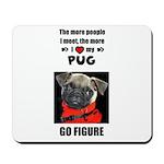 THE MORE I LOVE MY PUG Mousepad
