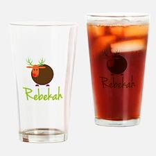 Rebekah the Reindeer Drinking Glass