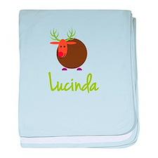Lucinda the Reindeer baby blanket