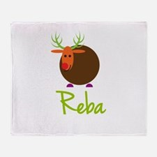 Reba the Reindeer Throw Blanket
