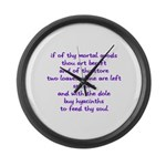 Hyacinths to feed thy soul Large Wall Clock