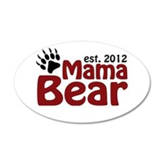Mama Bear Est 2012 22x14 Oval Wall Peel