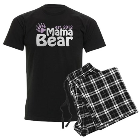 Mama Bear Est 2012 Men's Dark Pajamas