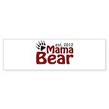 Mama Bear Est 2012 Bumper Sticker