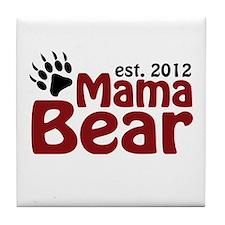 Mama Bear Est 2012 Tile Coaster