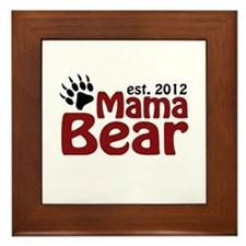 Mama Bear Est 2012 Framed Tile