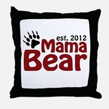 Mama Bear Est 2012 Throw Pillow
