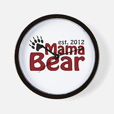 Mama Bear Est 2012 Wall Clock