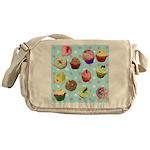 Polka Dot Cupcakes Messenger Bag