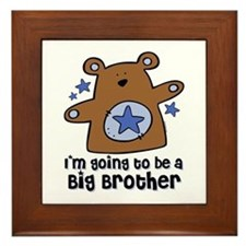 Teddy Bear Future Big Brother Framed Tile