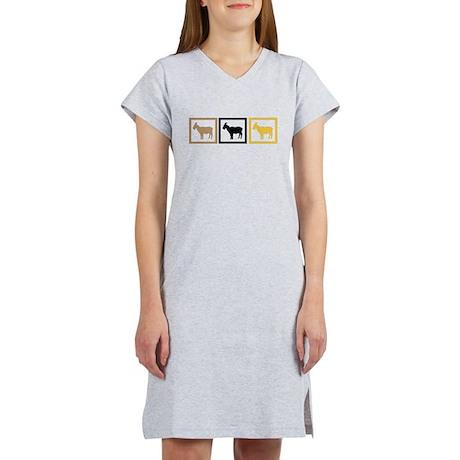 Goat Squares Women's Nightshirt