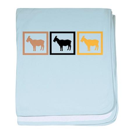 Goat Squares baby blanket
