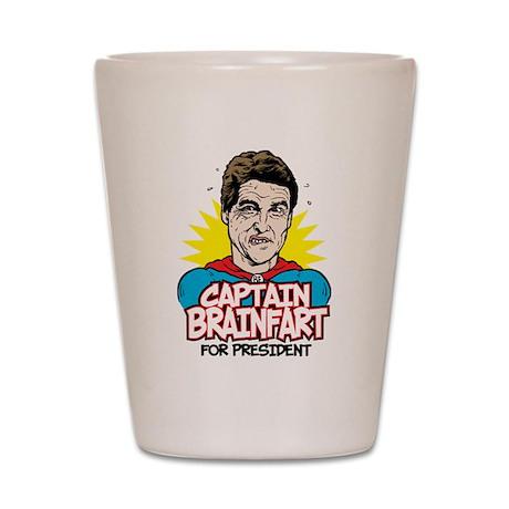 Perry Captain Brain Fart Shot Glass