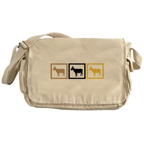 Goat Squares Messenger Bag