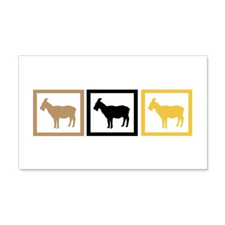 Goat Squares 22x14 Wall Peel