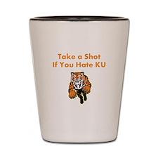 Hate KU Shot Glass